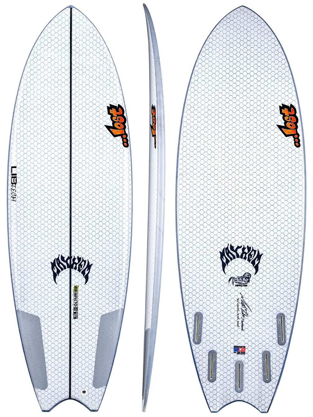 X Lost Puddle Fish 5'6 Surfboard