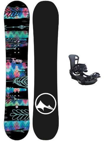 TRANS LTD 152 + Team M 2020 Snowboard Set