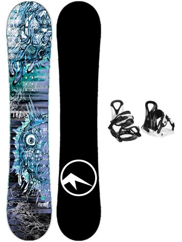 TRANS Pirate 120 + Eco XS/S 2020 Snowboard Komplet