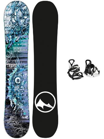 TRANS Pirate 130 + Eco XS/S 2020 Snowboard Komplet