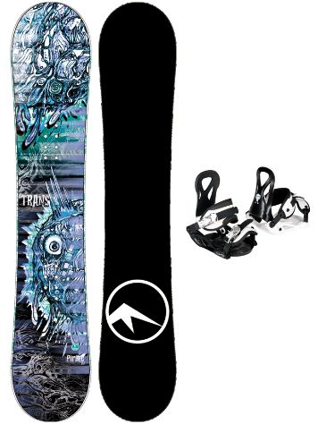 TRANS Pirate 135 + Eco XS/S 2020 Snowboard Set