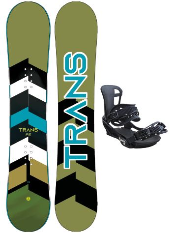 TRANS Fe Extra Wide 154MW + Team L 2020 Snowboard Set