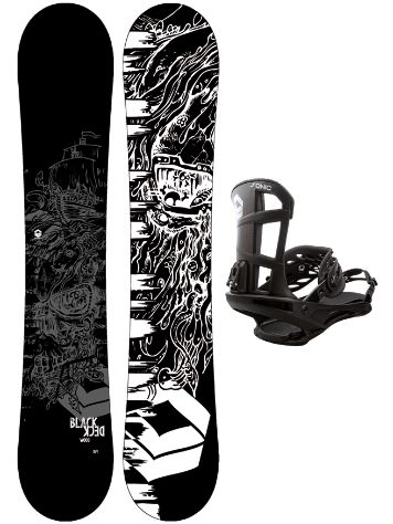 FTWO Blackdeck Wood 150 + Sonic M 2020 Snowboard Set