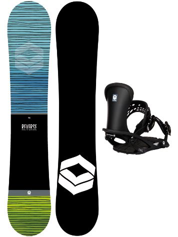FTWO Reverse 162W + Pipe L 2020 Snowboard Komplet