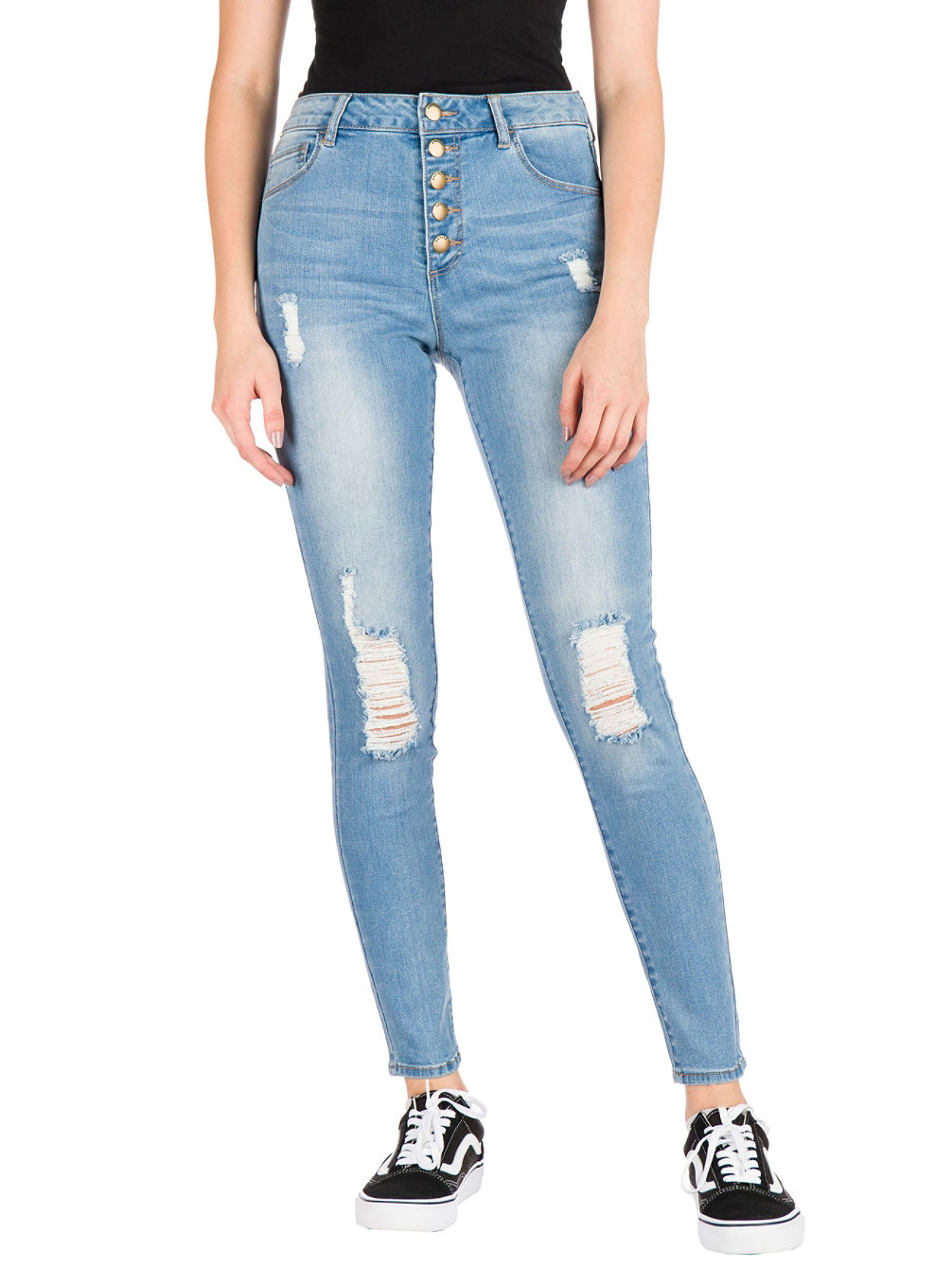 Drea W/Button Fly Jeans
