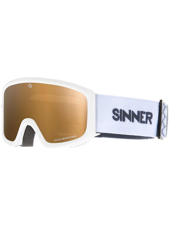 Sinner Duck Mountain Matte White dbl gold mirror