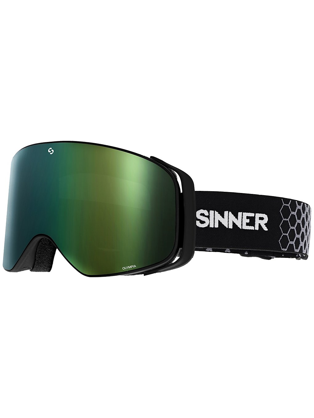 Sinner Olympia Mate Black/Gold double full orange mirror