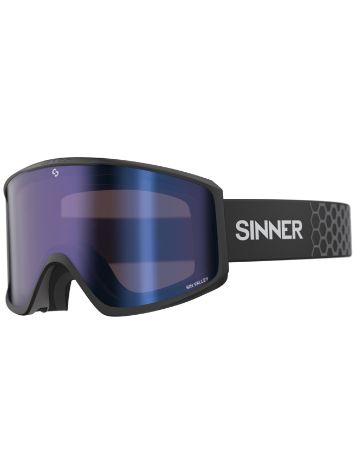 Sinner Sin Valley Matte Black (+Bonus Lens)