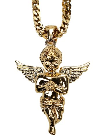 The Gold Gods Franco Wheat Chain Micro Angel Collana