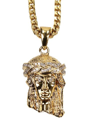 The Gold Gods Franco Chain Micro Jesus Collana