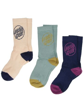 Santa Cruz Opus Dot 3 Pack Socks
