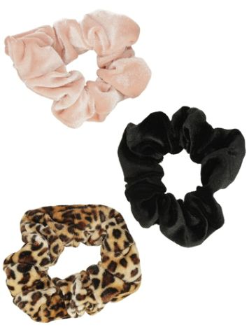 Stone and Locket Leopard 3Pk S&L Scrunchie