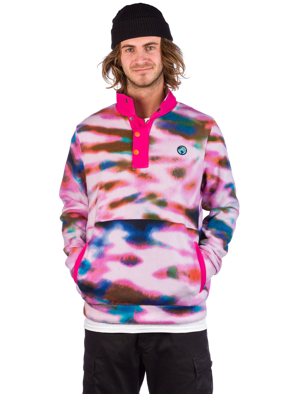Tie Dye Polar Fleece Pullover