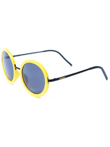 Happy Hour Squares Yellow Black Sonnenbrille