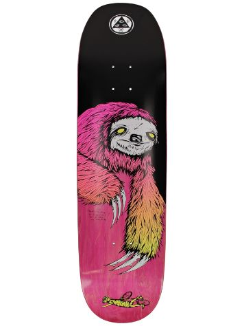 "Welcome Sloth On Moontrimmer 2.0 8.5"" Skateboard Dec"