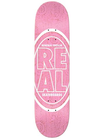 "Real Stacked Oval Floral Pink 8.06"" Skateboard De"