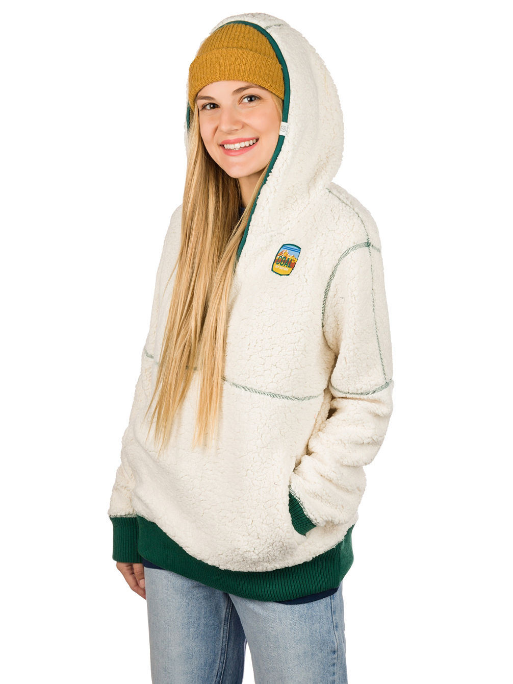 Del Campo Fleece Pulover s kapuco