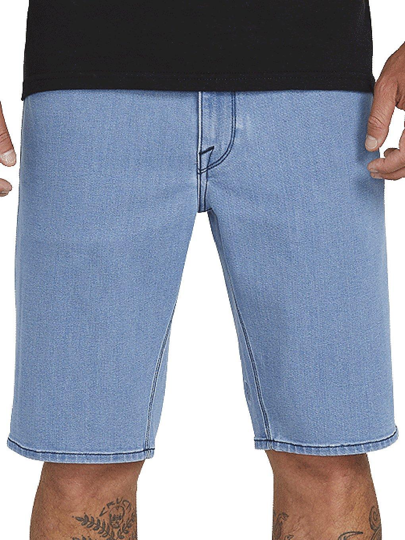 Volcom Solver Denim Shorts flat vintage indigo