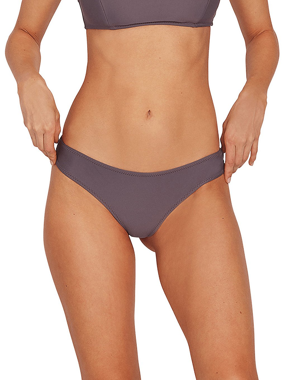 volcom simply solid cheekin bikini bottom steel purple
