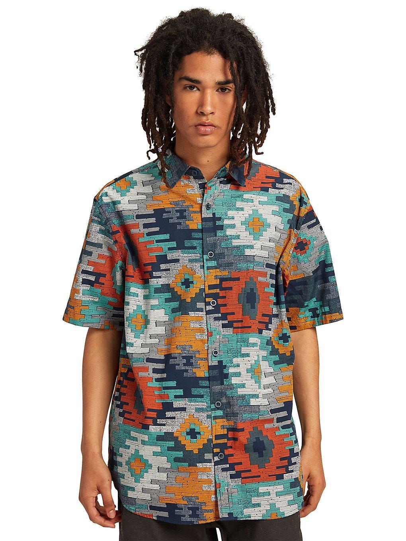 Burton Shabooya Camp Shirt dress blue crooked