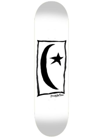 "Foundation Star & Moon Square 8.5"" Skateboard Deck"