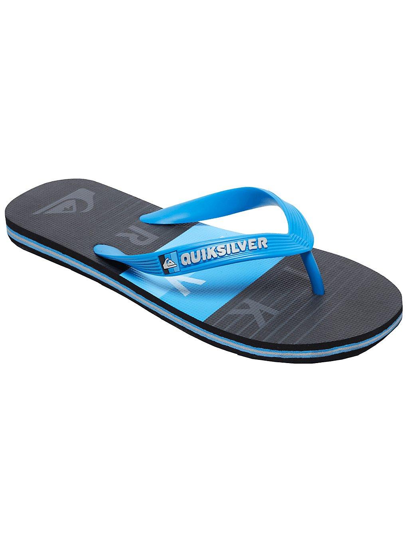 quiksilver molokai wordblock sandals blue