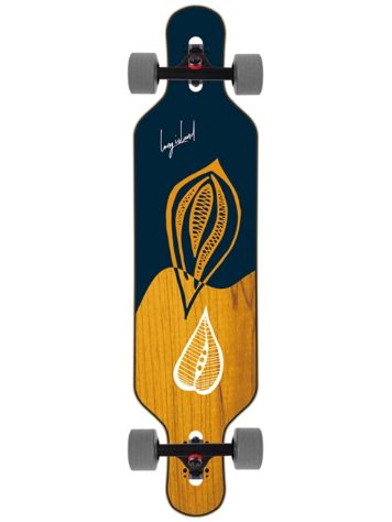 "Long Island Longboards Leaves 41.65"" Drop Through Complete"