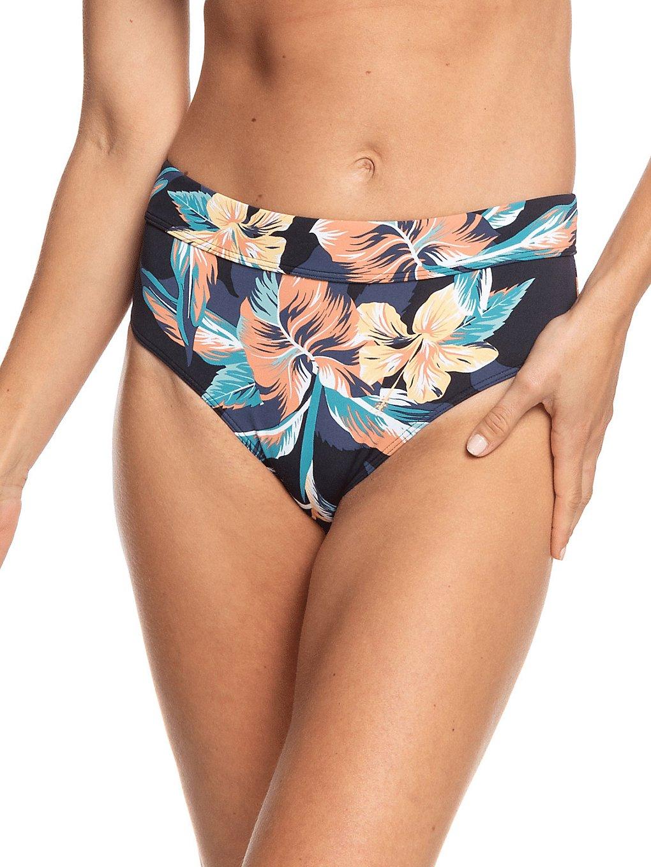 Roxy PT Beach Classics Full Mid Bikini Bottom anthracite tropicoco s