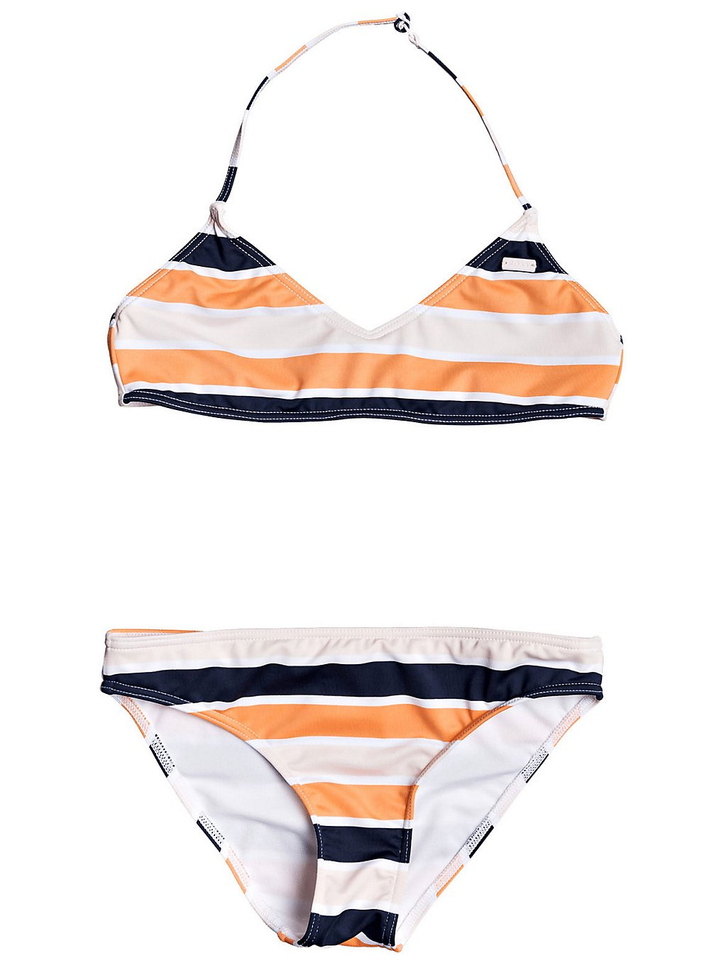 Roxy Made For Tri Bra Bikini cadmium orangepong strpes