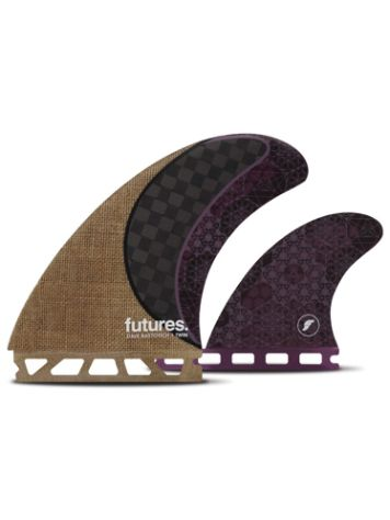 Futures Fins Twin Rasta Honeycomb Carbon Finne Set