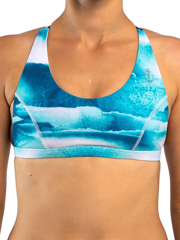 Zealous Mermazing Surf Bikini Top shades of blue