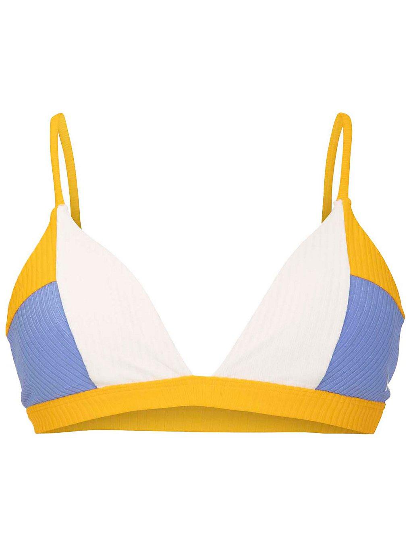 Hurley Rib Blocked Triangle Bikini Top sail