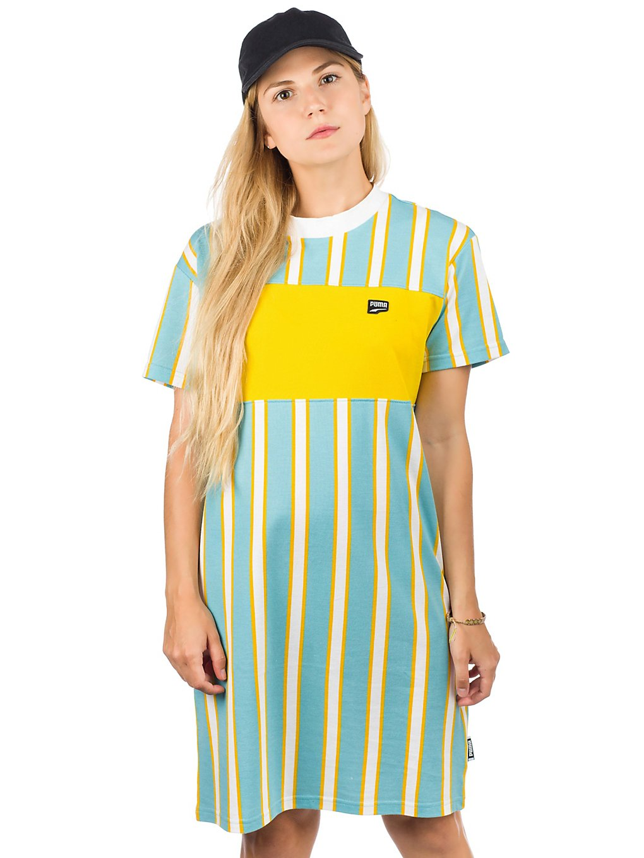 Kleider - Puma Downtown Stripe Dress milky blue  - Onlineshop Blue Tomato