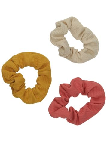 Stone and Locket 3Pk Scrunchie