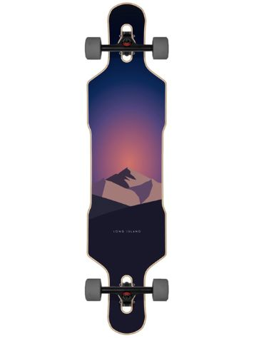 "Long Island Longboards Spread 41.0"" Drop Through Skateboard"
