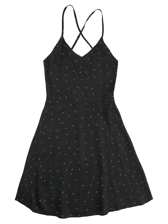 Kazane Nessa Dress black + print