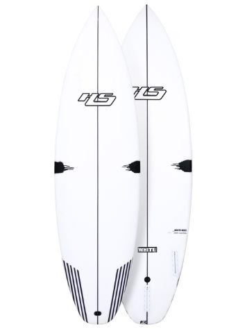 Haydenshapes White Noiz PU/Comp Stringer Futures 5'10 Surfboard
