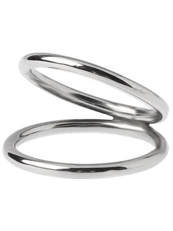 Epic Silver Stripe Double Ring M