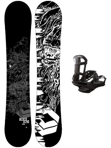 FTWO Blackdeck Wood 147+ Sonic M 2020 Snowboard Set