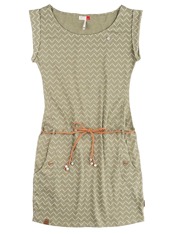 ragwear Tag Zig Zag Dress olive