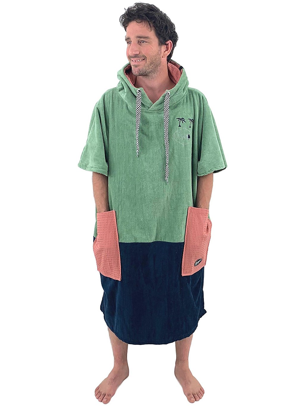 All-In Bumpy Line V Surf Poncho navy