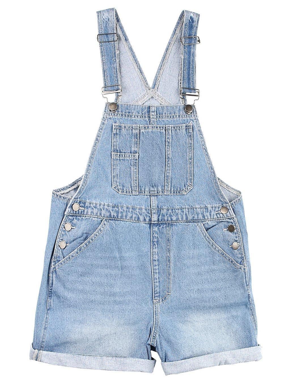 Empyre Maddie Dungaree Shorts blue
