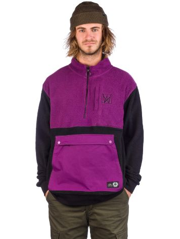 Welcome Icon Half Zip Sherpa Sweater