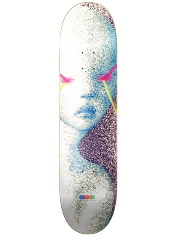 "Colours Early Worn Hart Laser Face 8.1"" Skateboard Deck"