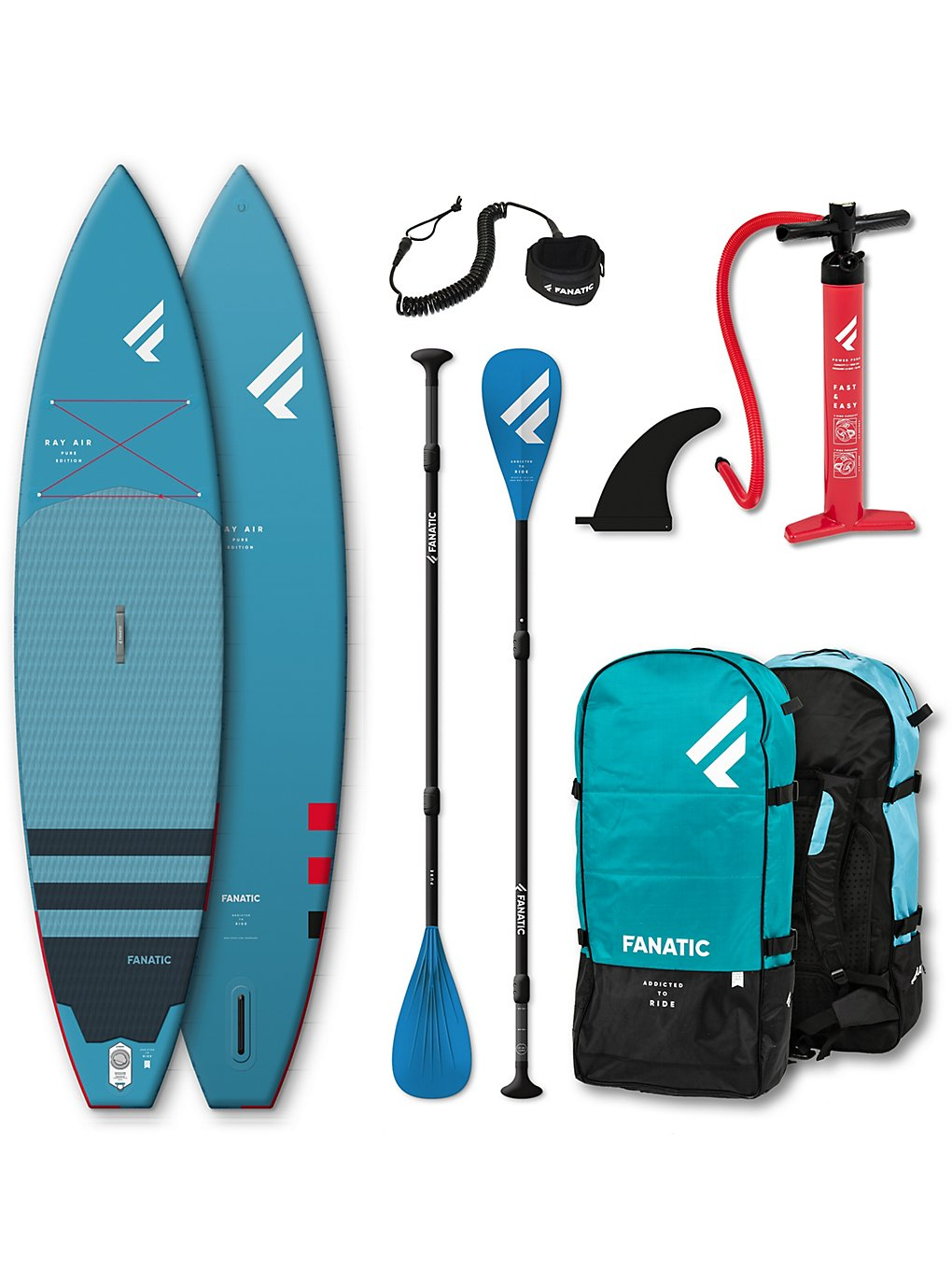 Fanatic Ray Air Package 12.6 SUP Board green