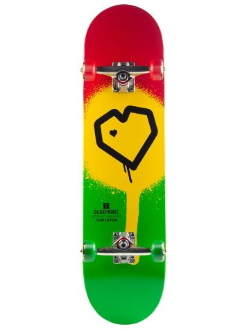 "Blueprint Spray Heart 8.0"" Skateboard"