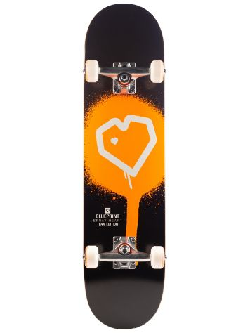 "Blueprint Spray Heart 7.75"" Skateboard"