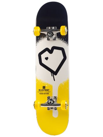 "Blueprint Spray Heart 7.25"" Skate Completo"