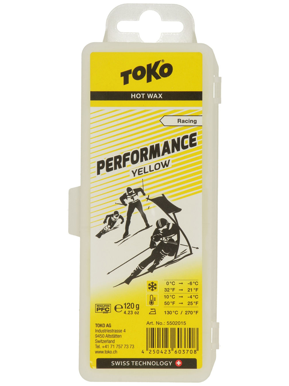 Performance Yellow -4°C / 10°C 120g Wachs
