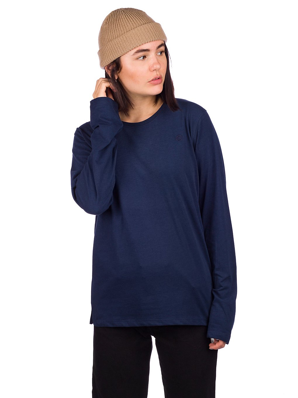 Kazane Tove Long Sleeve T-Shirt dress blue